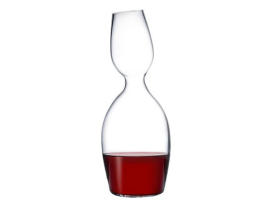 Lead Free Crystal Red and White Carafe by Ron Arad