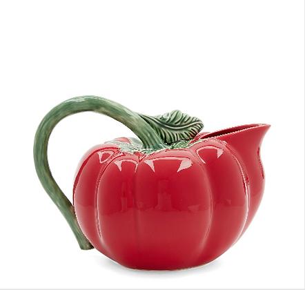 Bordallo Pinheiro Hand Painted Earthenware Tomato Pitcher
