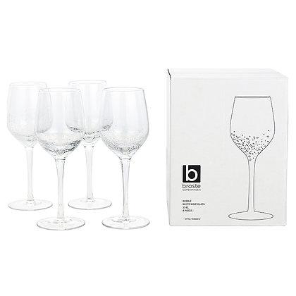 Set of 4 Broste Bubble White Wine Glasses