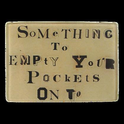 John Derian Empty Pockets Small Decoupage Glass Tray
