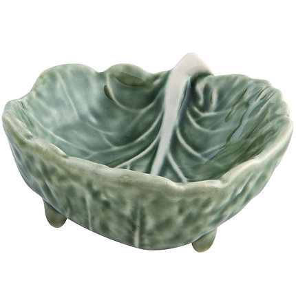 Bordallo Pinheiro Hand Painted Earthenware Cabbage Leaf Small Bowl 9cm