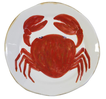 Flamant Hand Painted Di Mare Crab Plate