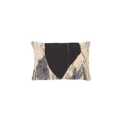 Ethnicraft Nero Chevron cushion