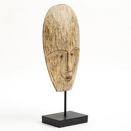 Flamant Anano Decorative Carved Wooden  Mask on Stand