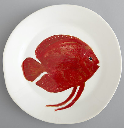 Flamant Hand Painted Di Mare Fish Plate
