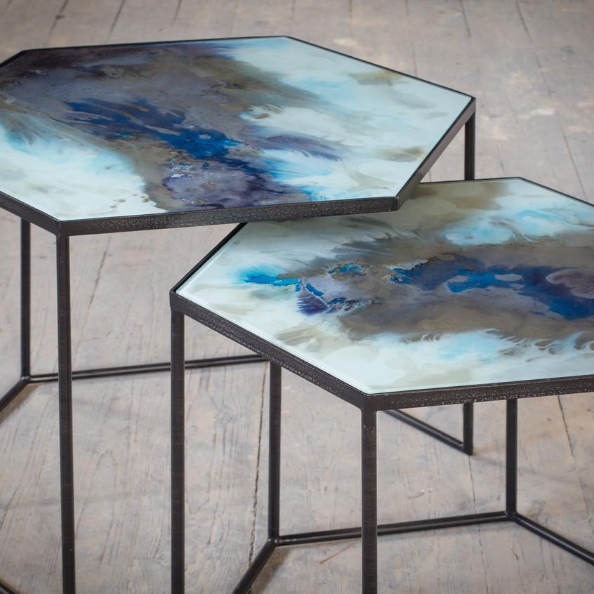 TGN-020727 Cobalt Mist organic hexagon s