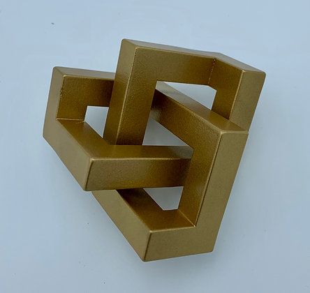 Mini Steel Geometric Knotted Steel Sculptural Ornament with Powder Coated Finish