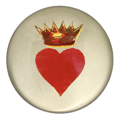 copy of John Derian Crowned Heart Domed Decoupage Paperweight