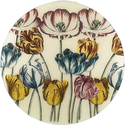 John Derian Tulips Decoupage Round Plate