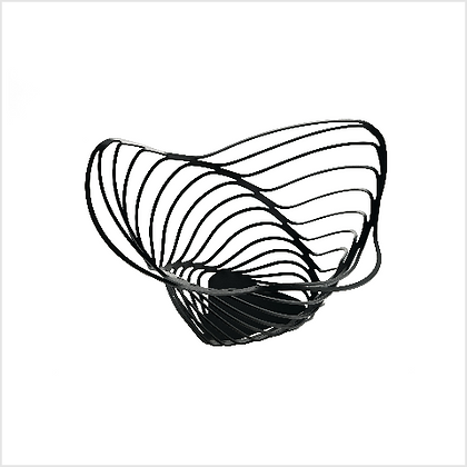Alessi Trinity Citrus Basket in Steel with BlackEpoxy Resin Finish