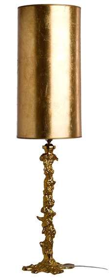 Drip Lamp with Gold Leaf Shade