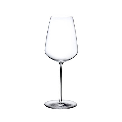 Set of 2 Lead Free Crystal Stem Zero White Wine Glasses