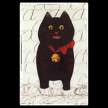 """John Derian """"A"""" Cat Decoupage Rectangular Tray"""
