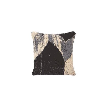 Ethnicraft Nero Chevron square cushion