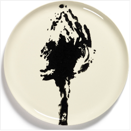 Feast by Ottolenghi Earthenware Black Artichoke Serving Plate