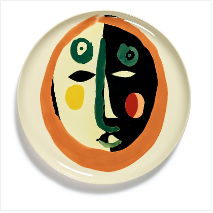 Feast by Ottolenghi Earthenware Face 1 Serving Plate