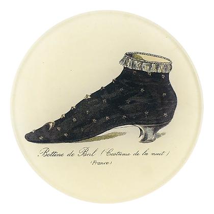 John Derian Bal (Boot) Decoupage Round Dish