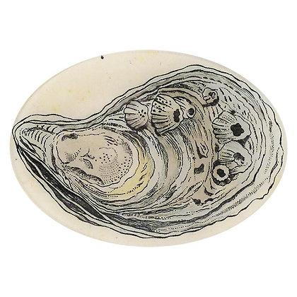 John Derian Oyster Decoupage Oval Dish