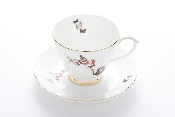 Ali Miller London Fine Bone China Alice Tea Cup and Sauce