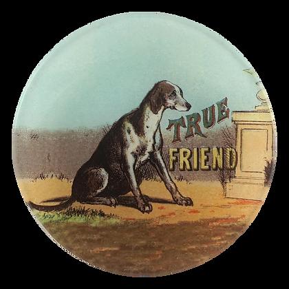 John Derian True Friend Dog Decoupage Round Dish
