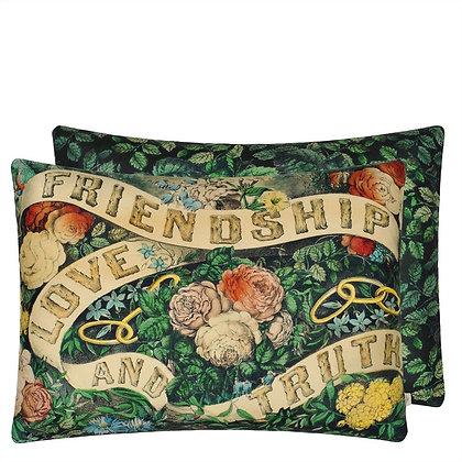 John Derian Friendship Forest Linen Mix Cushion