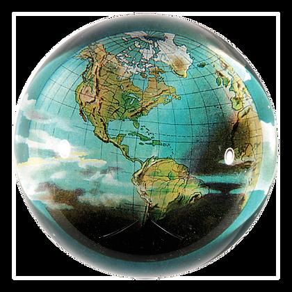 John Derian World  Decoupage Domed Paperweight