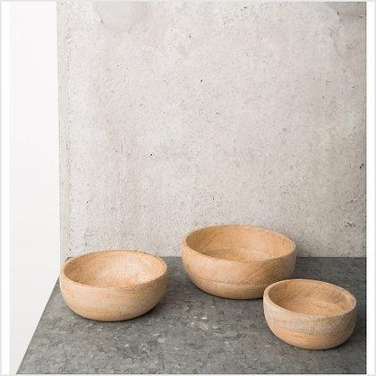 Set of 3 Mango Wood Bowls