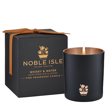 Noble Isle Whisky and Water Fine Fragrance Scented Candle