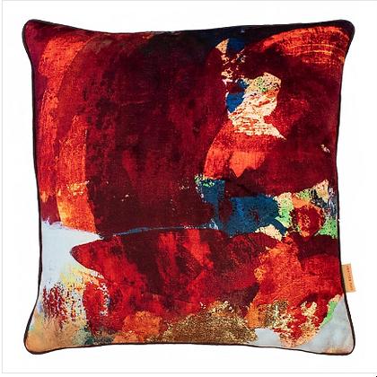 Susi Bellamy Twilight Scape Printed Velvet Cushion
