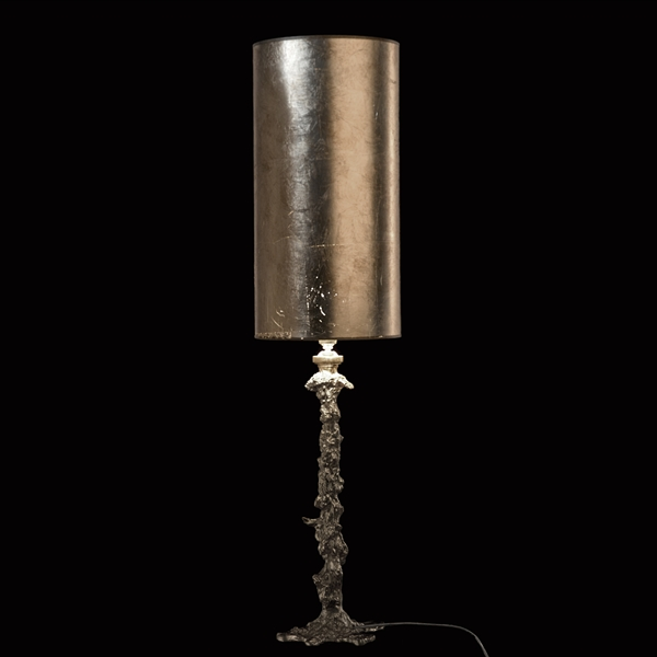 Drip Lamp with Silver Leaf Shade