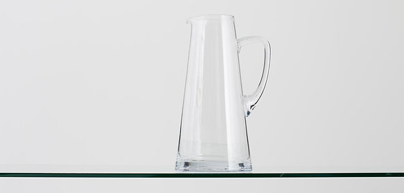 Flamant Clear Hand Blown Glass Water Jug