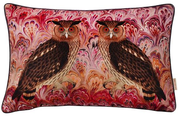 Susi Bellamy Blush Twin Eagle Printed Velvet Cushion