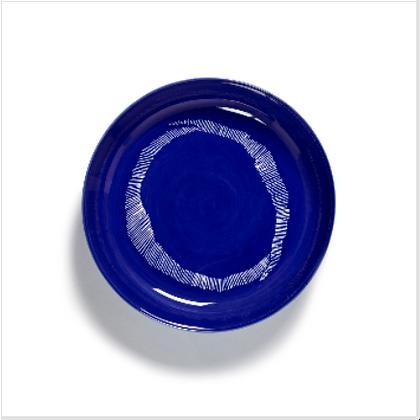 Feast by Ottolenghi Earthenware High Side White Swirls Plate