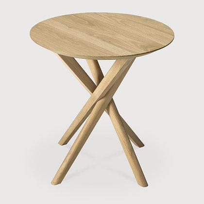 Ethnicraft Round Mikado Oak Side Table