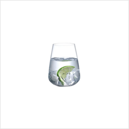 Set of 2 Lead Free Crystal Stem Zero Water Glasses
