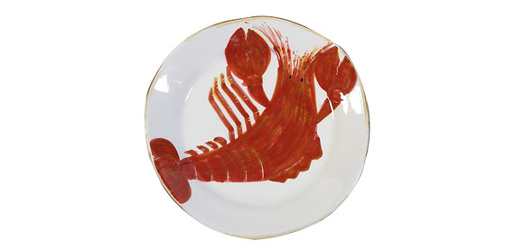 Flamant Hand Painted Di Mare Lobster Plate