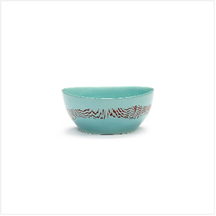 Feast by Ottolenghi Small Earthenware Red Stripes Bowl