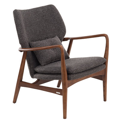 Pols Potten Rough Grey Upholstered Peggy Chair