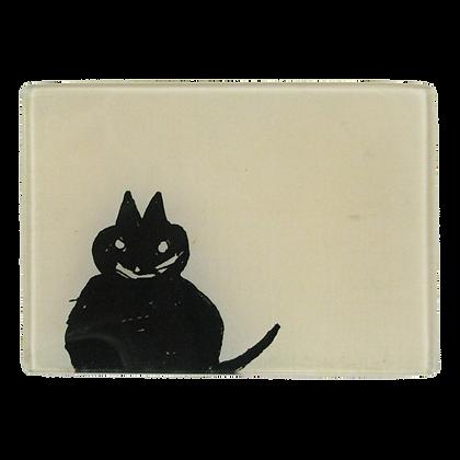John Derian Perched Cat Small Decoupage Glass Tray