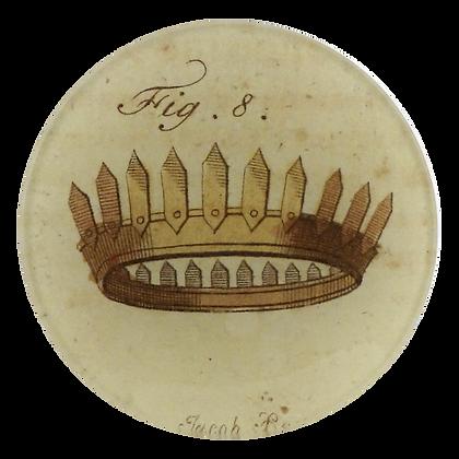 John Derian Fig 8 Crown Decoupage Round Dish