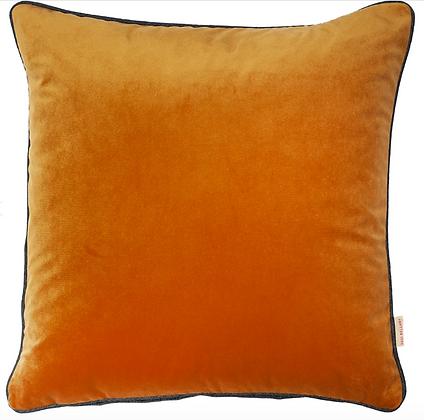 Susi Bellamy Nutmeg Plain Velvet Cushion
