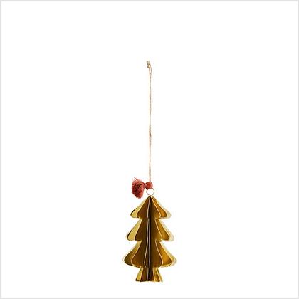 Madam Stoltz Metal Hanging Christmas Tree Decoration
