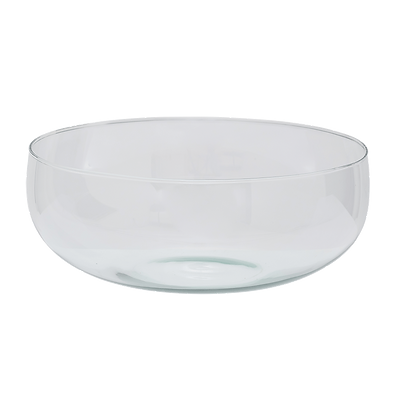 Recycled Clear Glass Salad Bowl