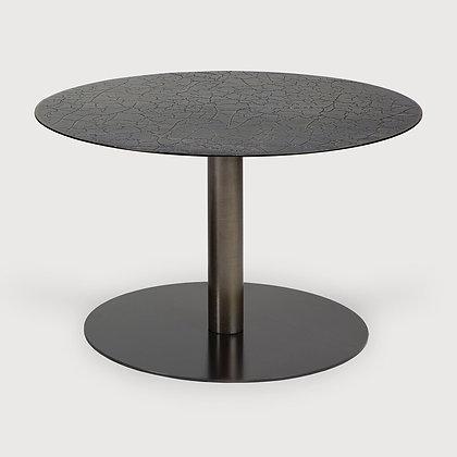 Ethnicraft Round Medium Metal Lava Top Coffee Table