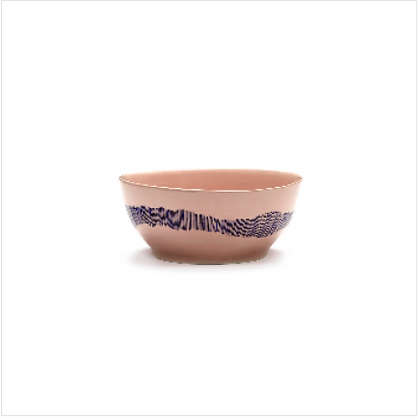 Feast by Ottolenghi Small Earthenware Blue Stripes Bowl