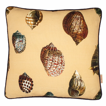 Susi Bellamy Sand Shell Printed Linen Cushion