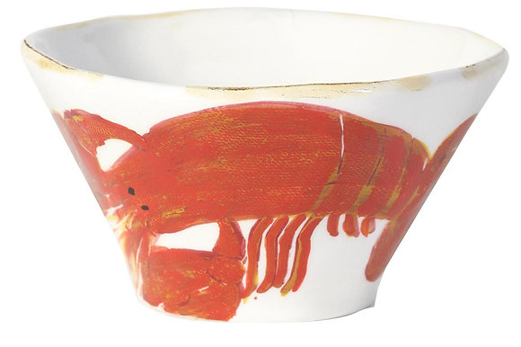 Flamant Hand Painted Di Mare Lobster Bowl