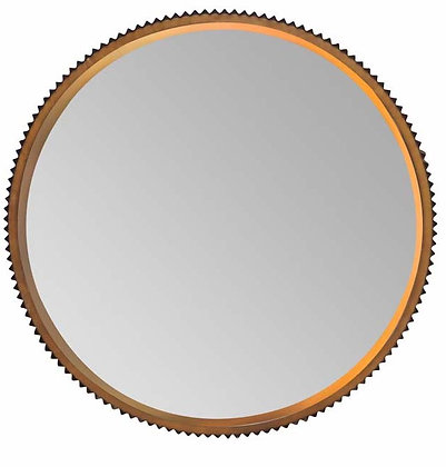 Bevelled Edged Mirror with Deep Notched Frame