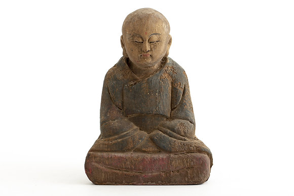 Flamant Hand Carved Wooden Figure