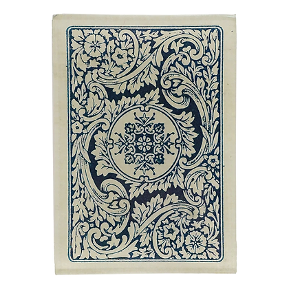 John Derian Card Back White and Blue Emblem Decoupage Rectangular Dish